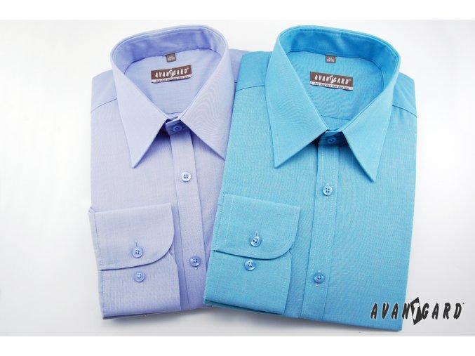 Pánská tyrkysová luxusní košile SLIM FIT s dl.ruk. 117-2127