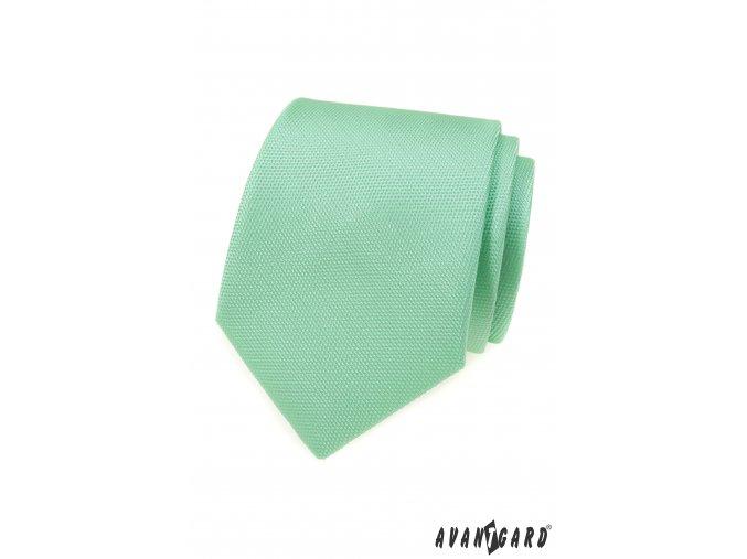 Mátová pánská kravata s vroubkovanou strukturou