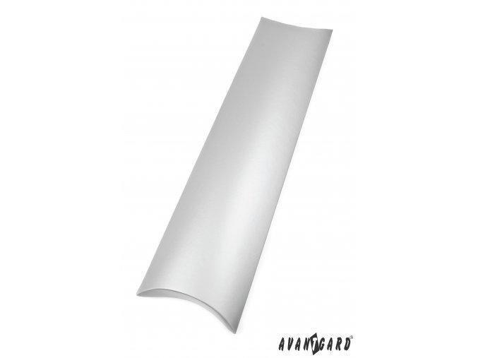 Stříbrná dárková krabička na kravatu
