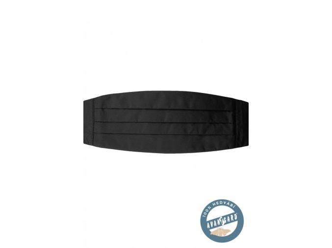 Černý jednobarevný smokingový pás