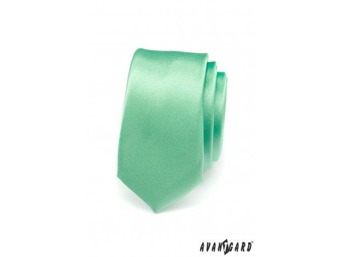 Zářivě zelená SLIM kravata