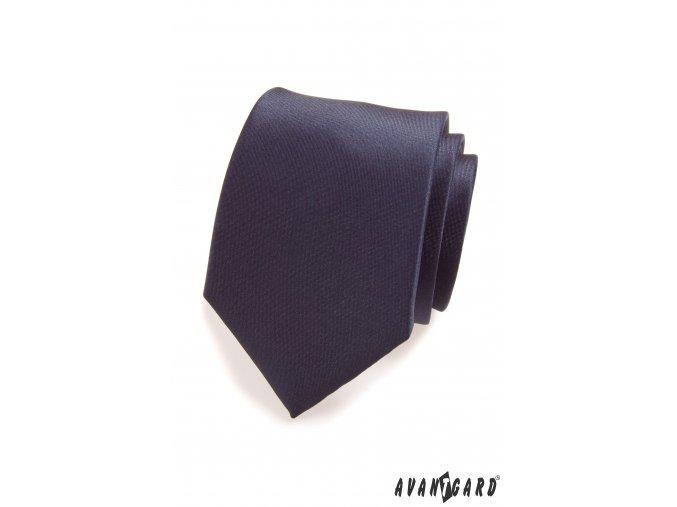 Navy modrá matná kravata_