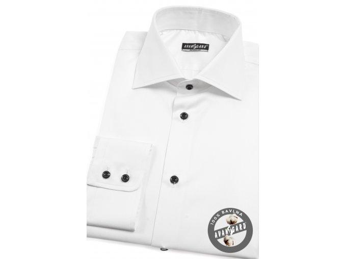 Pánská bílá košile dl. ruk. 209-0123
