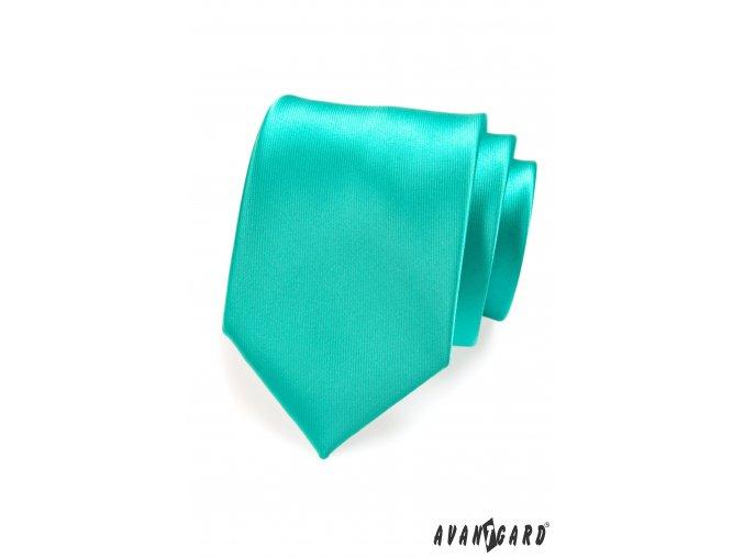 Zelená lesklá kravata_