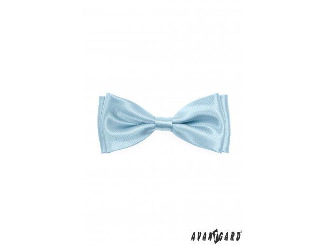 Světle modrý lesklý pánský motýlek