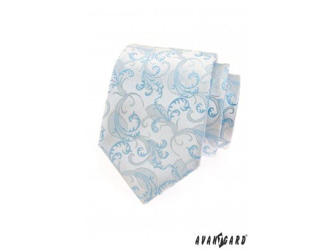 Světle modrá kravata se vzorem