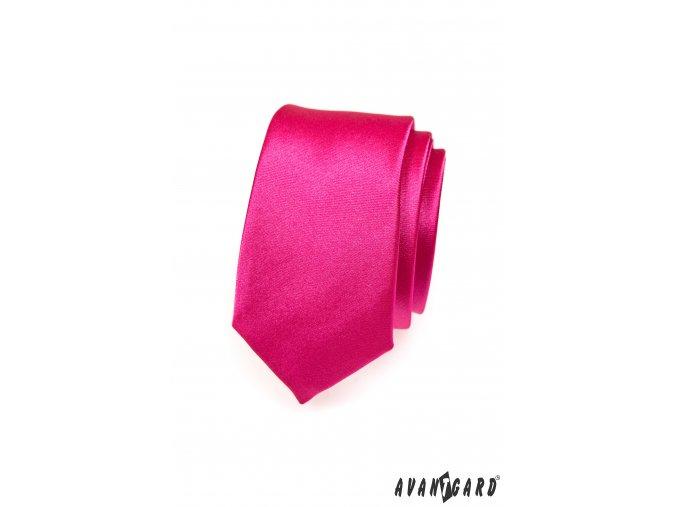 Růžová SLIM kravata