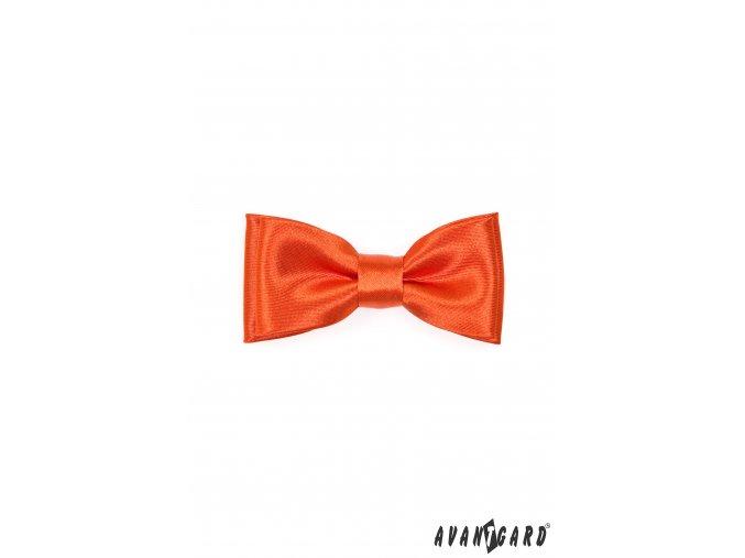 Oranžový chlapecký MINI motýlek