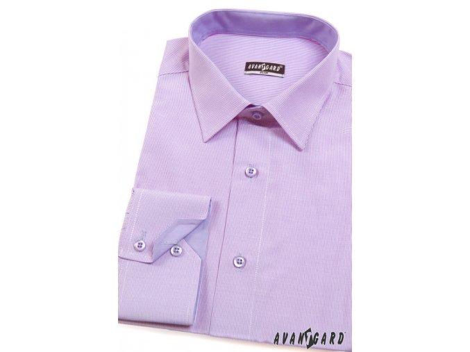Pánská světle fialová SLIM FIT košile, dl. ruk. 125-706