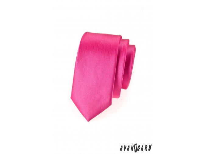 Světle fuchsiová SLIM kravata