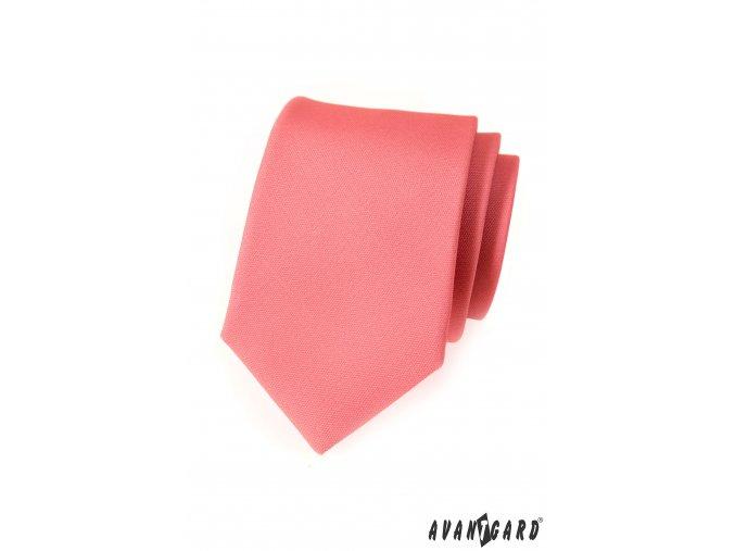 Korálová kravata bez vzoru
