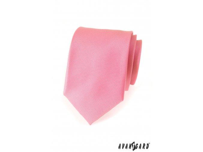 Růžová luxusní kravata_
