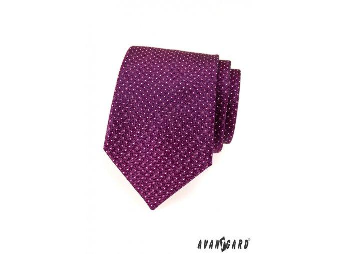 Kravata AVANTGARD LUX 561-9422 Fialová (Barva Fialová, Velikost 0, Materiál 100% polyester)