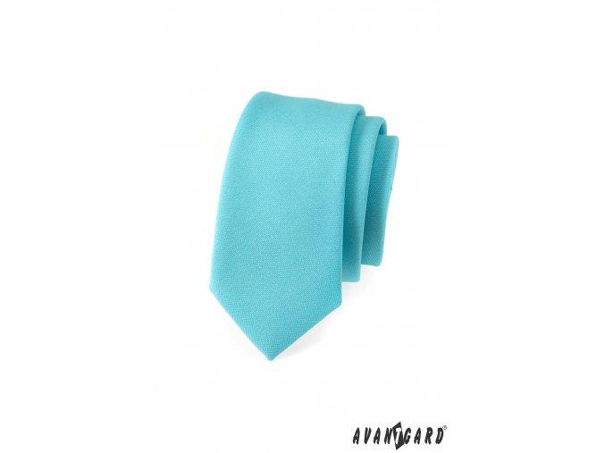 Tyrkysová slim kravata