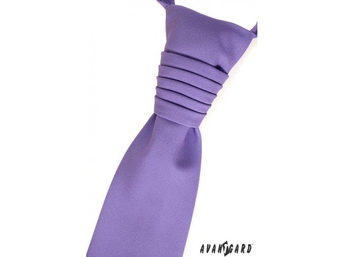 Světle fialová pánská regata + kapesníček do saka