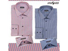 Bílá pánská úzká SLIM košile s proužky, dl.rukáv, 109-1221