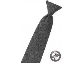 Kravata chlapecká 558-5083 Grafitová (Barva Grafitová, Velikost délka 31 cm, Materiál 100% bavlna)
