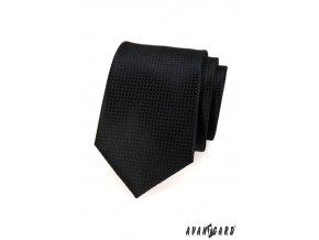 Černá kravata s mřížkou_
