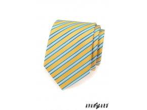 Kravata AVANTGARD LUX 561-9458 Žlutá (Barva Žlutá, Velikost 0, Materiál 100% polyester)