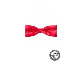 Motýlek KLASIK 576-5082 Červená s bílým puntíkem (Barva Červená s bílým puntíkem, Velikost 10 cm, Materiál 100% bavlna)