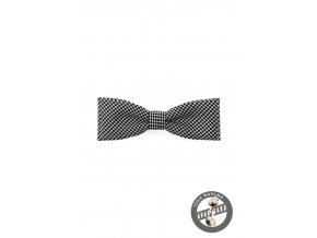 Motýlek KLASIK 576-5087 Černo-bílá (Barva Černo-bílá, Velikost 10 cm, Materiál 100% bavlna)