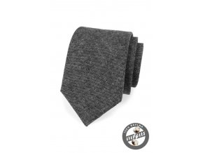 Grafitová bavlněná kravata