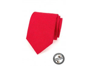 Kravata AVANTGARD LUX bavlněná 601-5083 Červená s bílým puntíkem (Barva Červená s bílým puntíkem, Velikost šířka 7 cm, Materiál 100% bavlna)