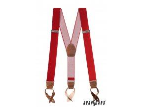 Šle s koženými poutky 874-1263 Červená (Barva Červená, Velikost uni, Materiál 90% polyester a 10% elastan)