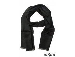 Černá jednobarevná pánská šála