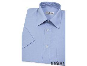Pánská košile KLASIK s kr.ruk. 351-16 V16-středně modrá (Barva V16-středně modrá, Velikost 46/182, Materiál 55% bavlna a 45% polyester)