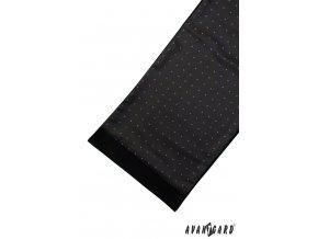 Pánská šála 954-13068 Černá (Barva Černá, Velikost 0, Materiál 100% polyester)