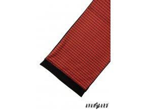 Pánská šála 954-13076 Červená (Barva Červená, Velikost 0, Materiál 100% polyester)