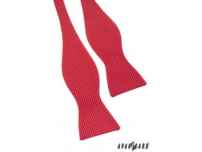Vázací motýlek AVANTGARD s kapesníčkem 598-1752 Červená s bílým puntíkem (Barva Červená s bílým puntíkem, Velikost uvázaný cca 12 cm, Materiál 100% polyester)