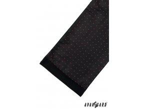 Pánská šála 954-13069 Černá (Barva Černá, Velikost 0, Materiál 100% polyester)