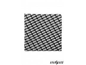 Šedý kapesníček s trojrozměrným vzorem