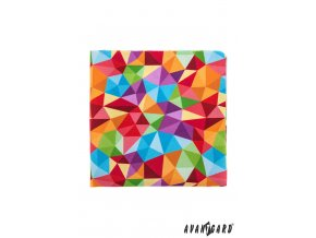 Barevný kapesníček s  mozaikovým vzorem