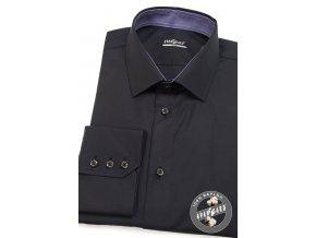 Černá pánská SLIM FIT košile, dl.rukáv, 109-2338