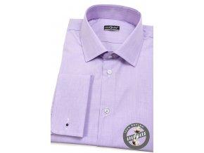 Lila pánská SLIM FIT košile na manžetové knoflíčky, 122-3856