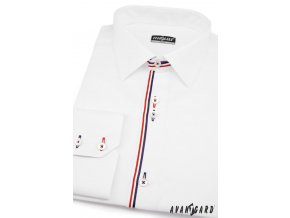 Bílá pánská SLIM FIT košile, dl. rukáv, 120-0131