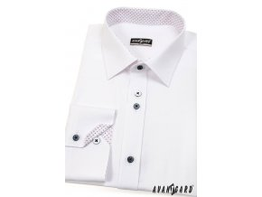 Bílá pánská SLIM FIT košile, dl. rukáv, 125-0112
