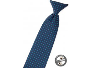 Modrá chlapecká kravata s tečkami_