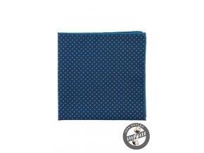 Modrý kapesníček do saka s tečkami
