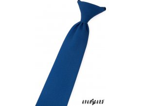 Modrá jednobarevná chlapecká kravata