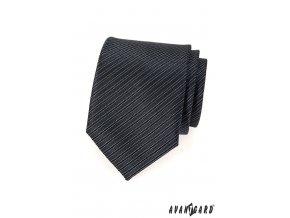 Grafitová kravata s tmavými proužky_