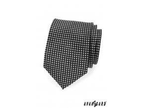 Černá kravata se šachovnicí_