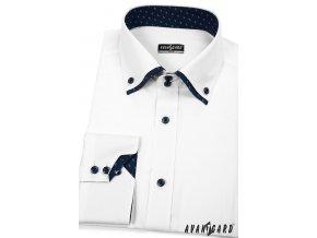 Bílá pánská SLIM FIT košile, dl. rukáv, 120-0108