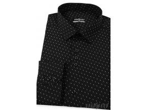 Černá pánská SLIM FIT košile, dl. rukáv, 125-2308