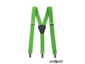 Zelené jednobarevné chlapecké šle