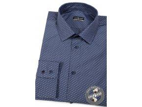 Modrá pánská SLIM FIT košile, dl.rukáv, 109-48