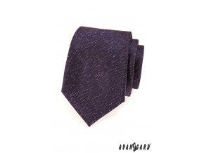 Tmavě fialová kravata se zajímavým jemným vzorem
